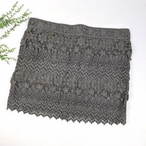 American Eagle Gray Lace Skirt